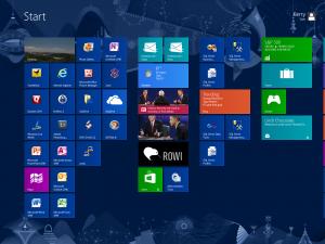 Configured Windows 8 Start Screen