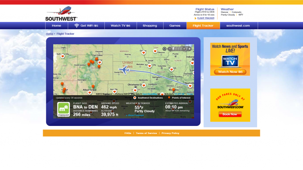 SWA 2410 Flight Tracker